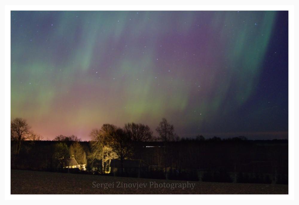 Northern light across the Estonian sky.