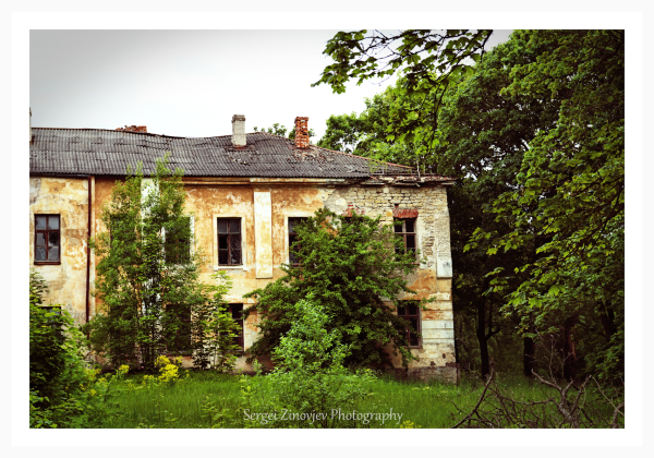 crumbling old house