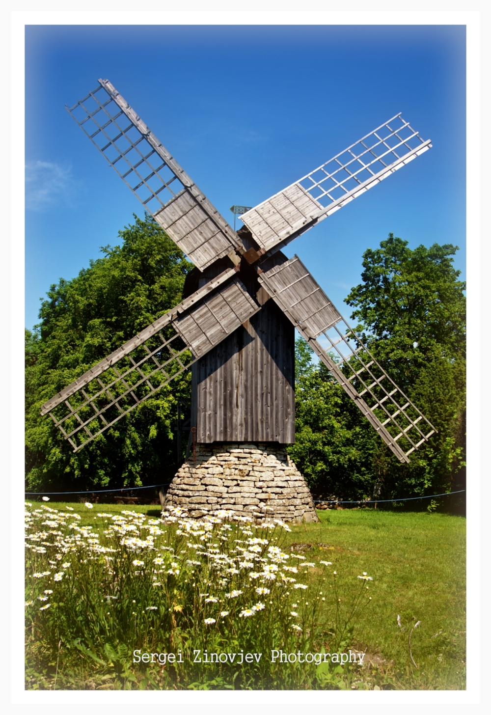 Historical Eemu Windmill located at Muhu Island