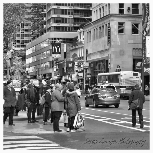 people on the streets of New York