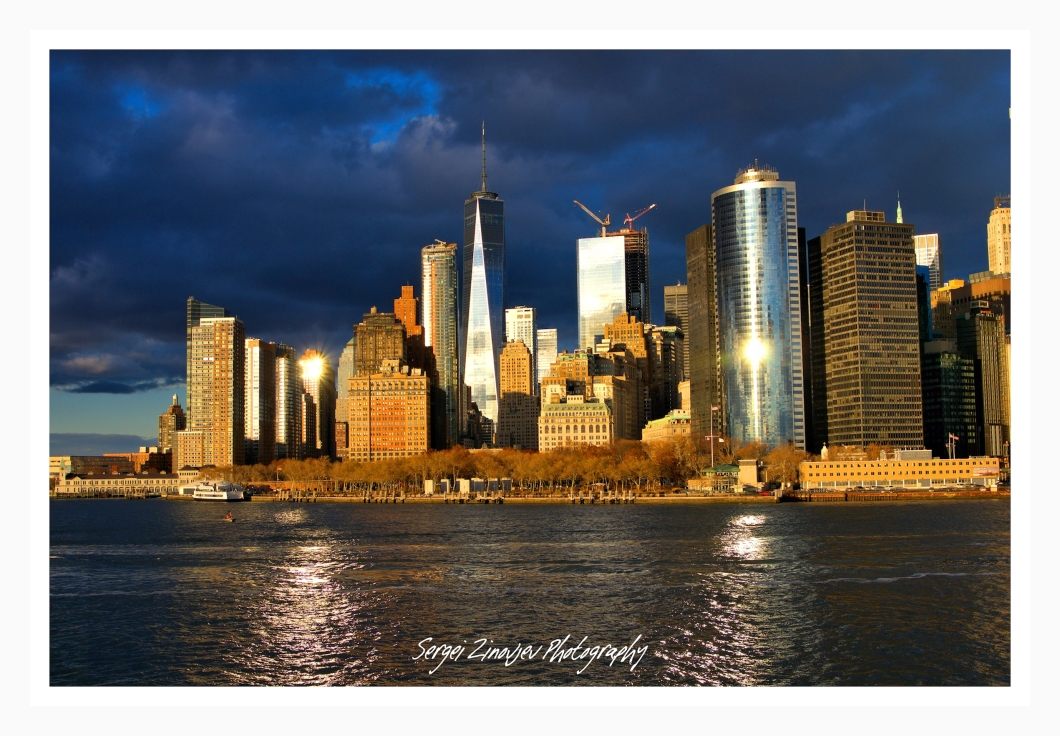 golden light on Manhattan, NYC