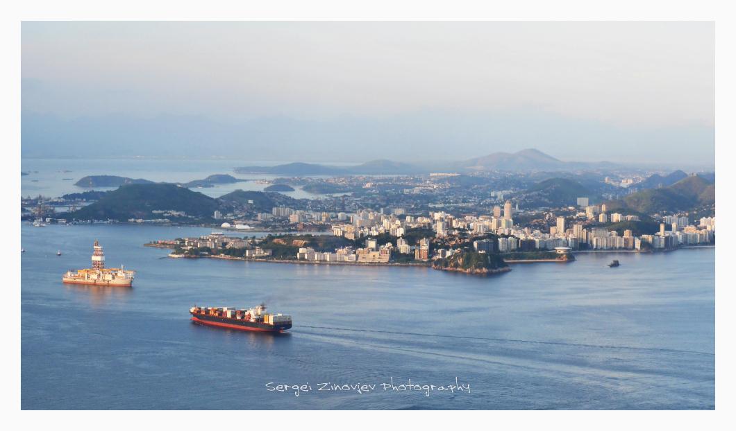 cargo ships near Rio de Janeiro