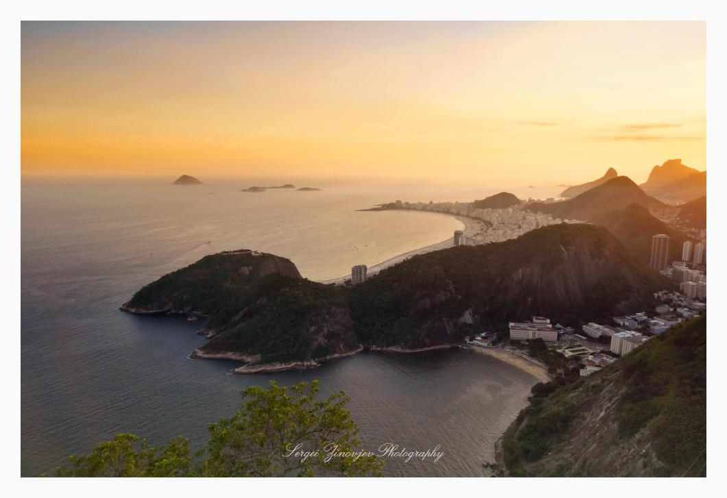 Beautiful sunset in Rio de Janeiro