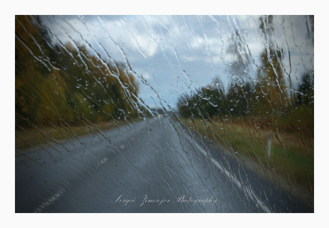 driving in rainy day