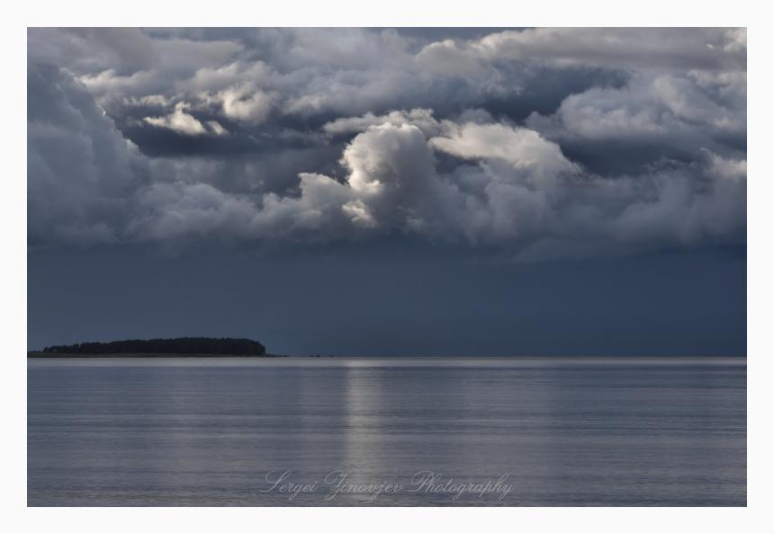 cloudy Baltic Sea