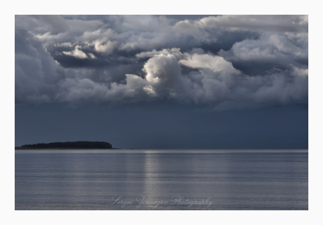 cloudy Baltic Sea