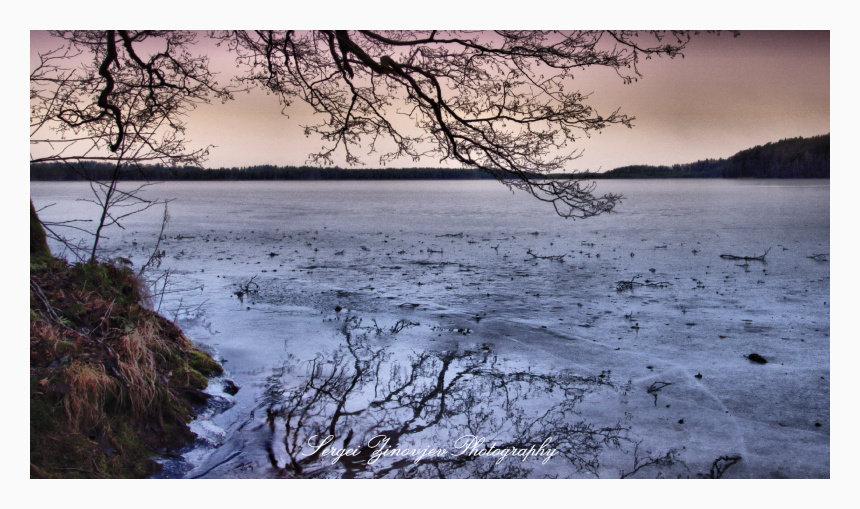 Uljaste järv (lake) in winter time