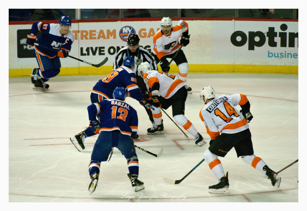 hockey New York Islanders vs Philadelphia Flyers