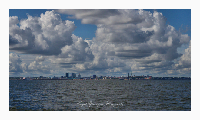 View of Tallinn from the Baltic Sea