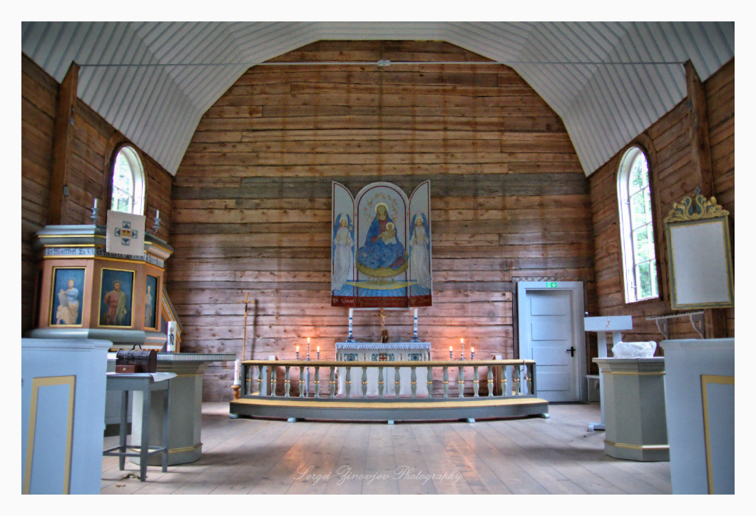 altar of the St. Mary's Church on Naissaar island