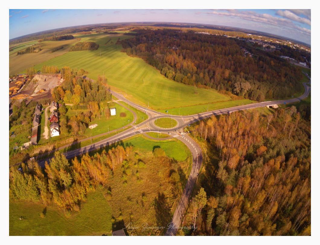 Estonian landscape in autumn