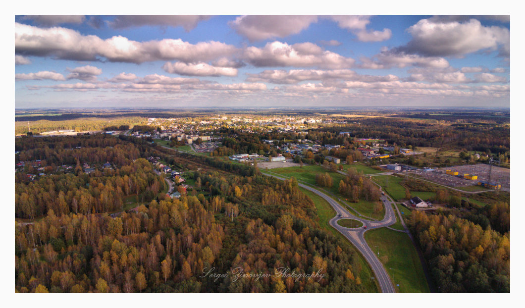 Paide from the high point of view