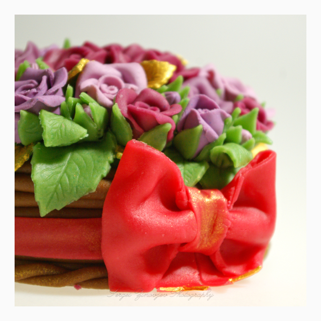 close-up of marzipan sweets