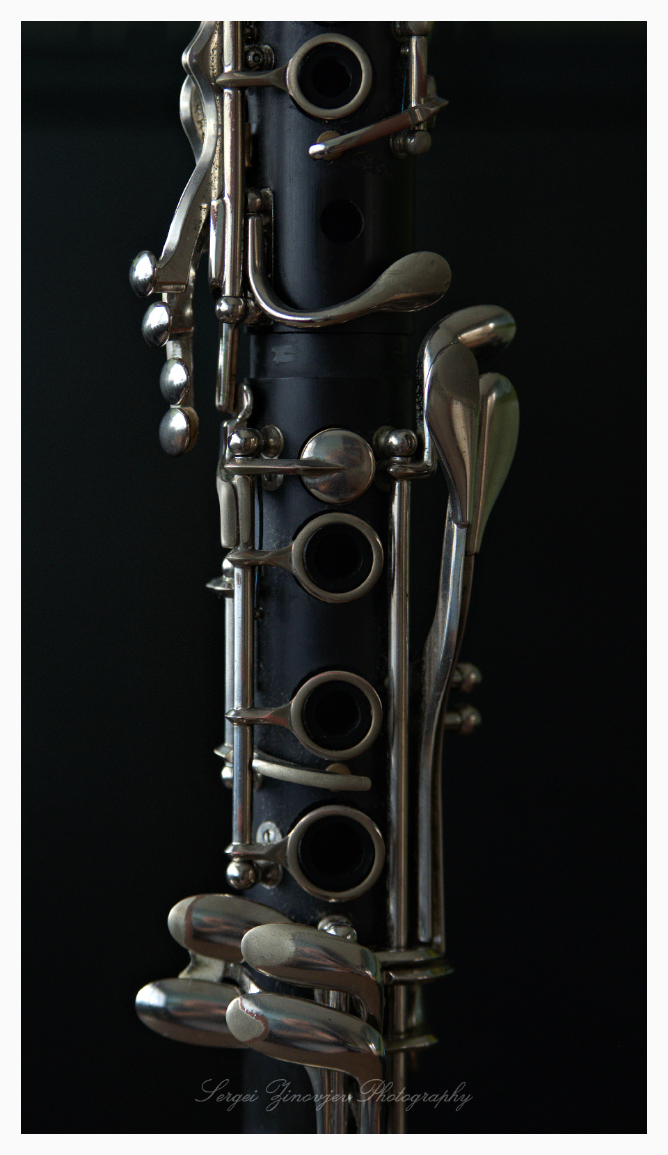 close-up of clarinet