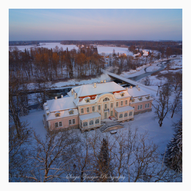 drone view of Laupa Manor