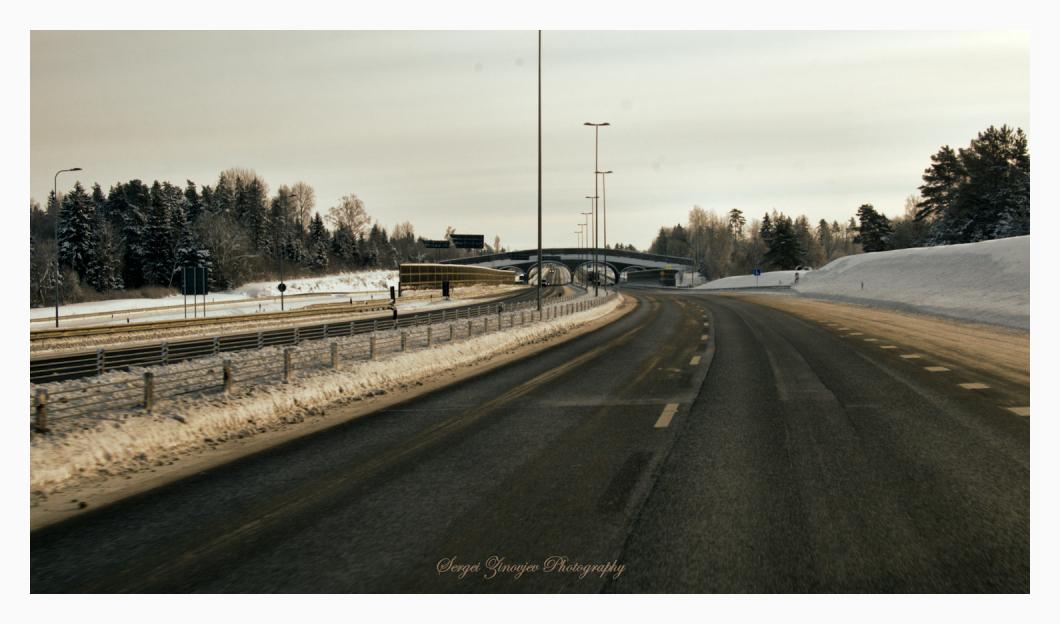 Estonian highway in winter