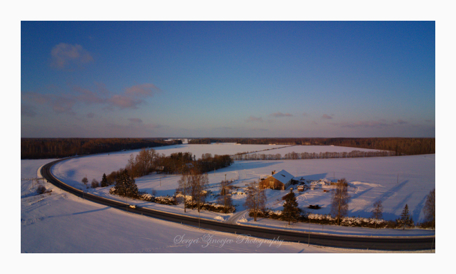 drone view of Estonian landscape