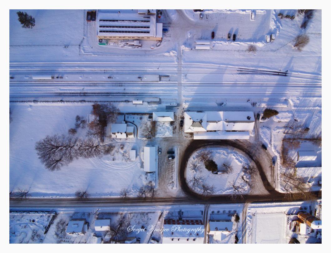 Türi railway station at winter time