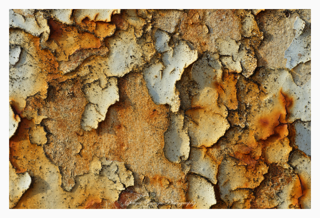 close-up of rusty surface