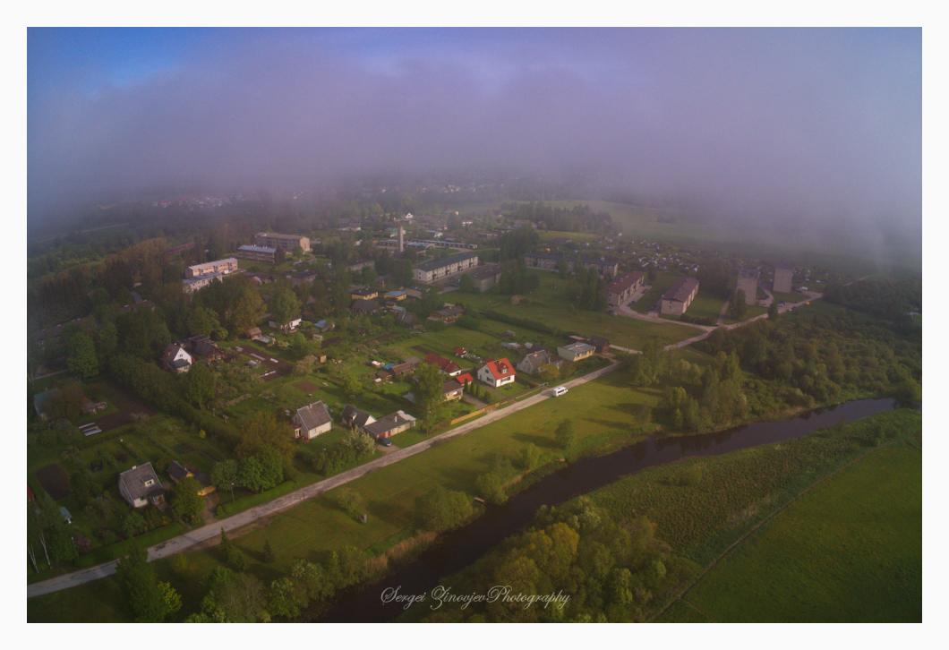 sunny morning in Särevere, Estonia
