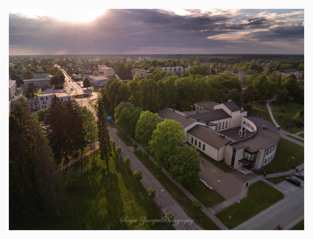 drone view of Türi, Estonia