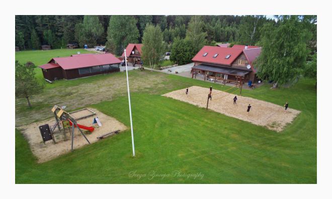 drone view of Metsajõe Puhkemaja