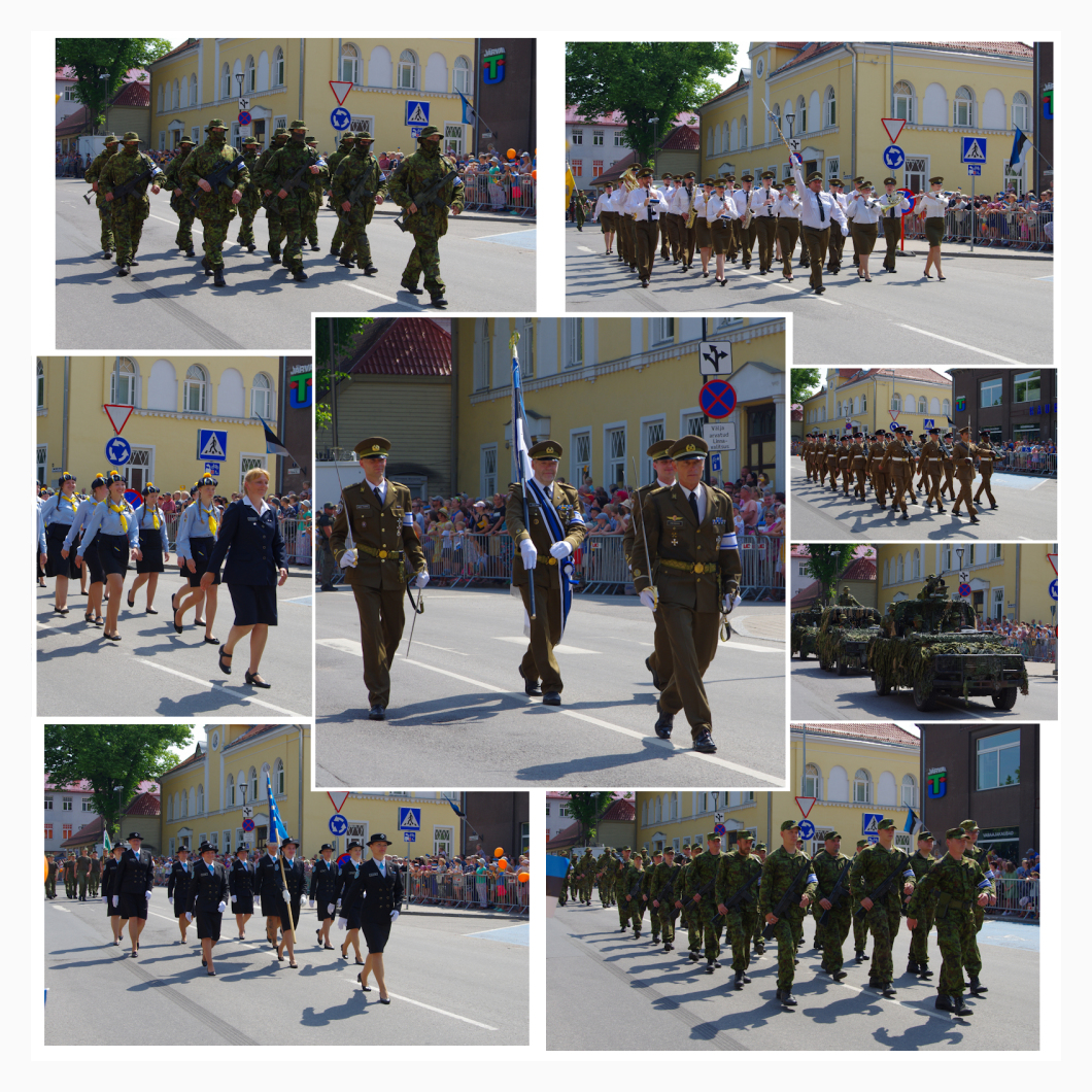 parade of Victory Day in Paide