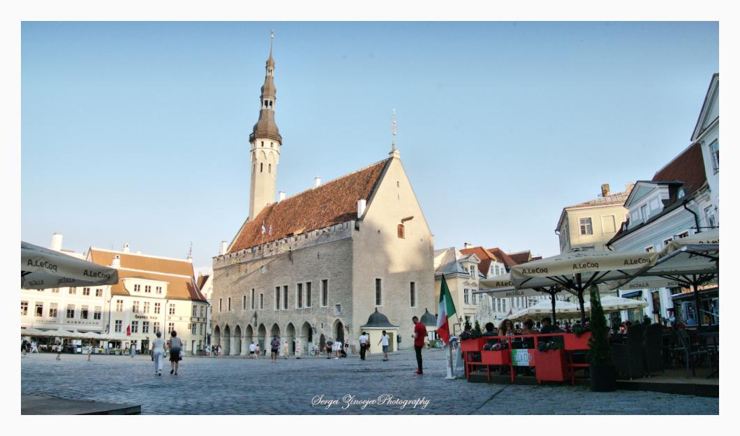 summer evening in Tallinn