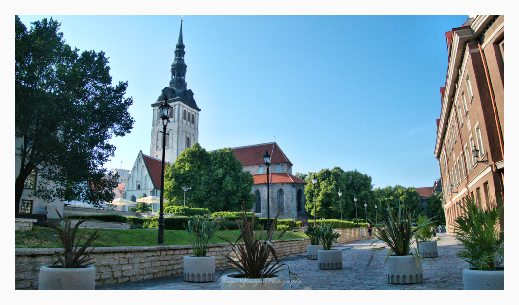 Old Town in Tallinn at summer