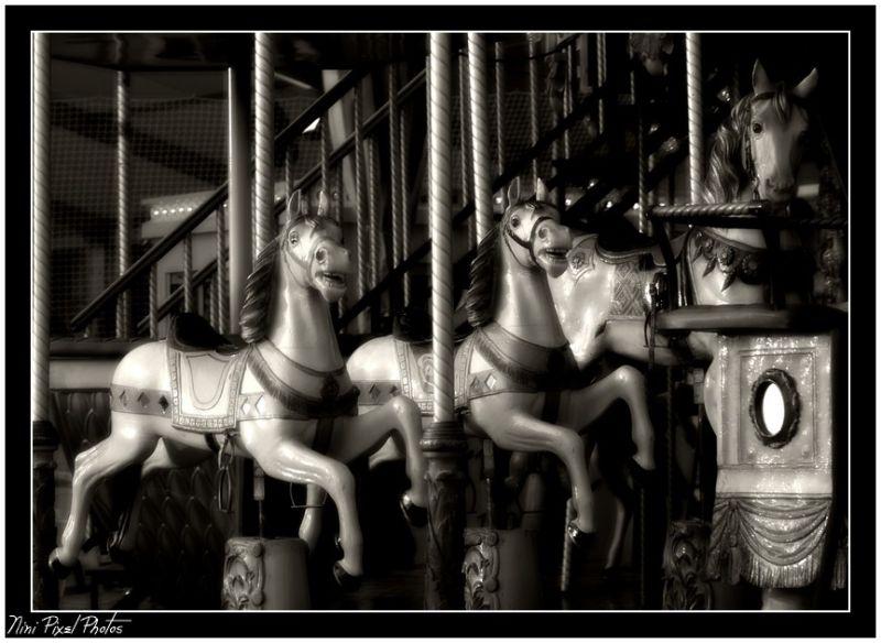 A horse wood carousel...