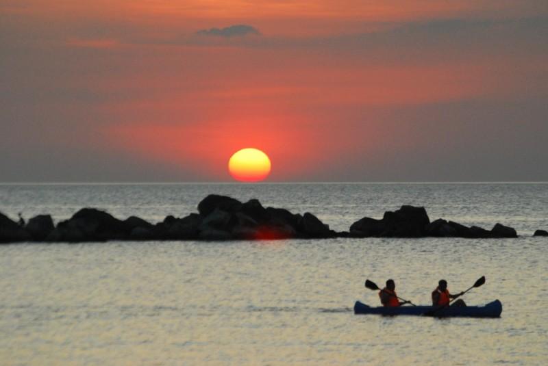 Sunset View with Kayak