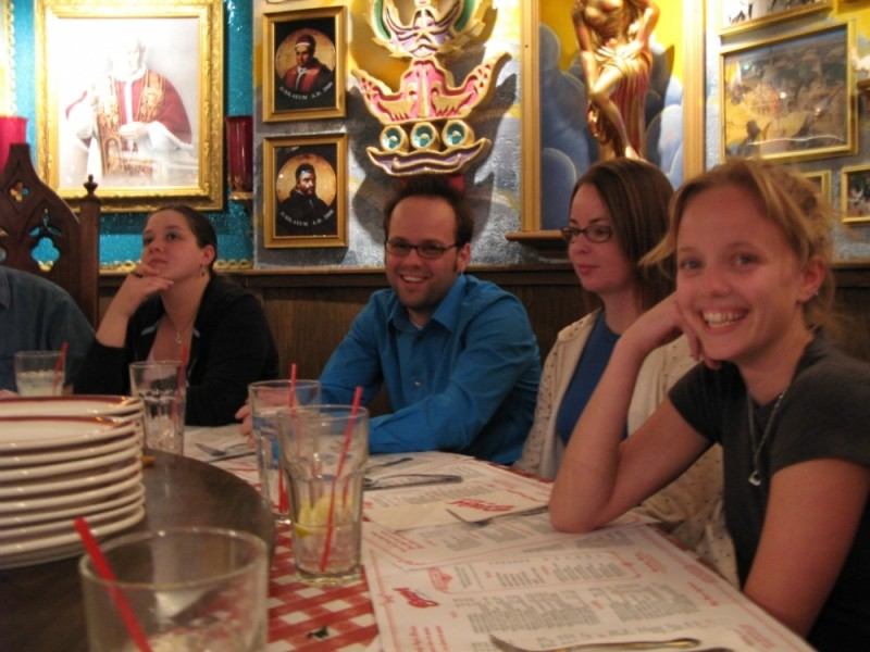 My sister and cousins at Buca De Beppo