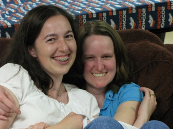 Claire and I at her house