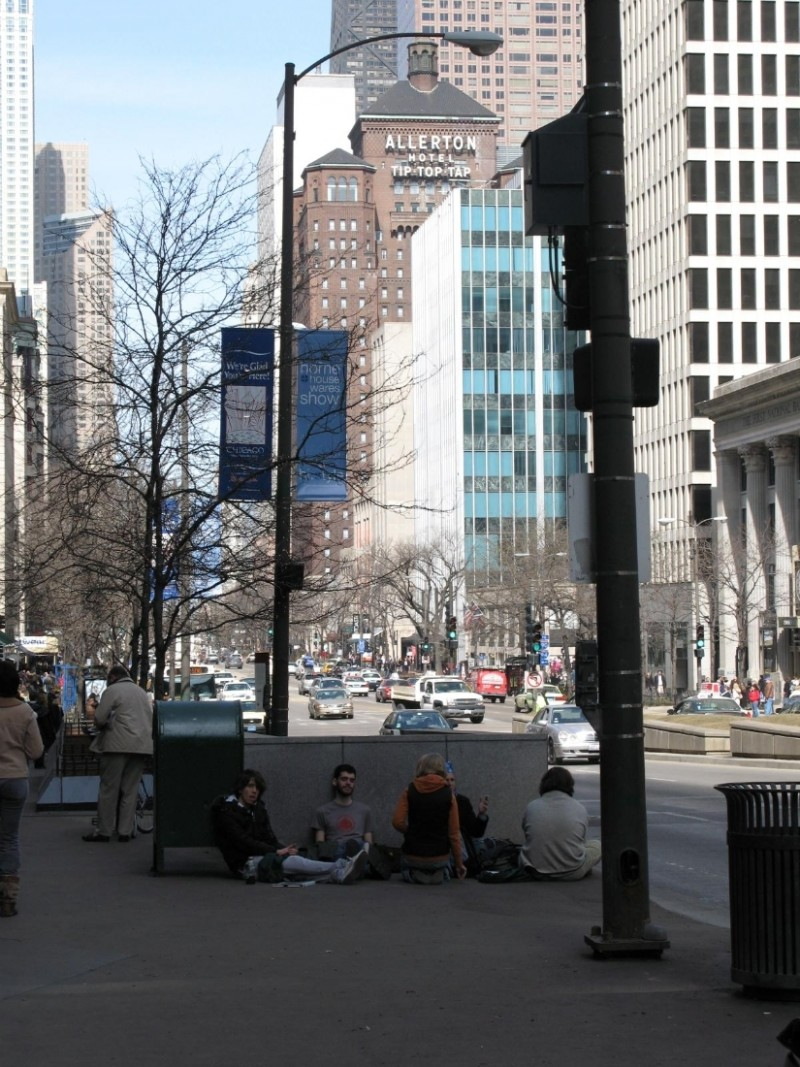 Michigan Avenue in March
