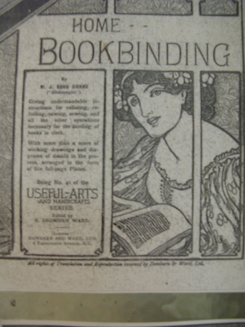 "A booklet on the ""useful-art"" of book binding"
