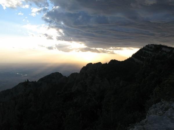 Sunset from the top of Sandia Peak