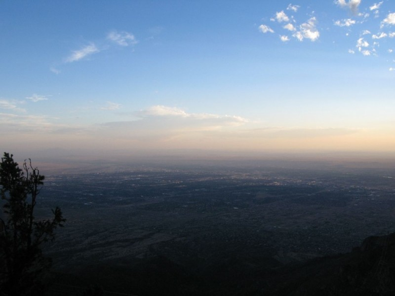 Albuquerque as seen from the top of Sandia Crest