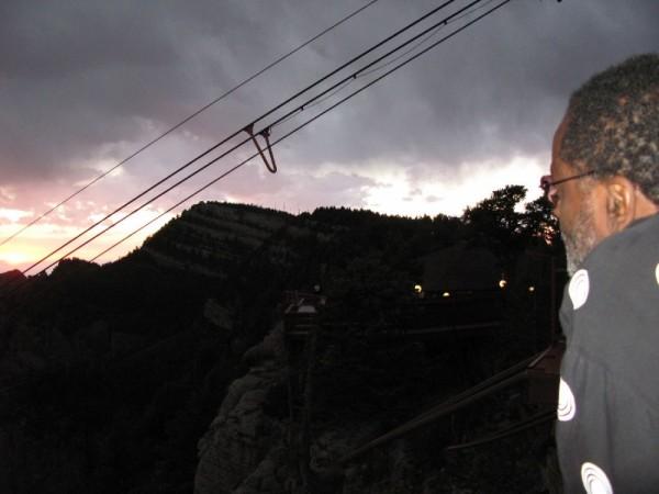 Storm rolling in on Sandia Peak