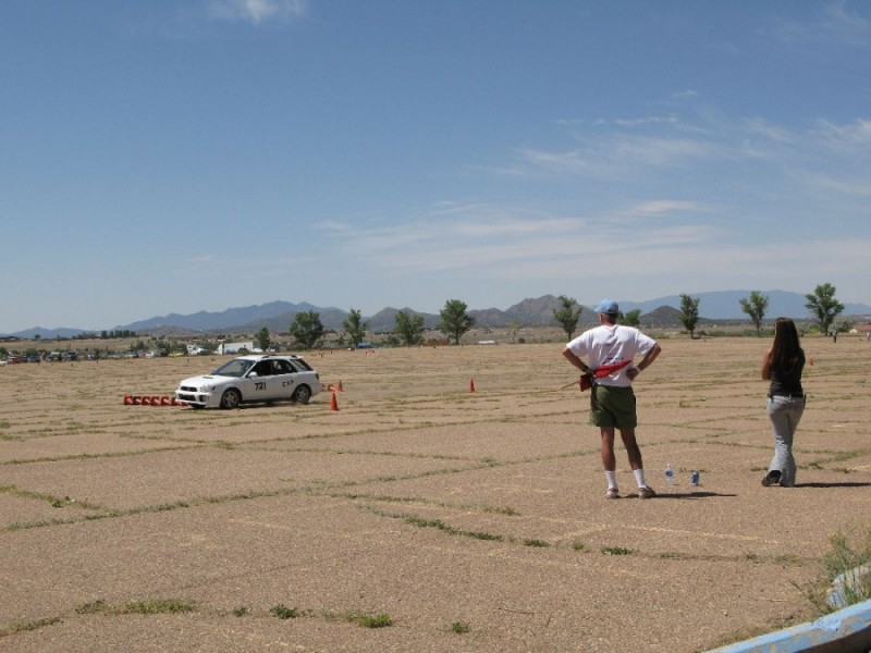 An Auto-Cross event in Santa Fe, NM