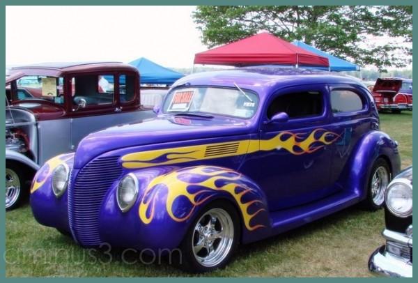 Antique car show in Emerson Park, Auburn, NY