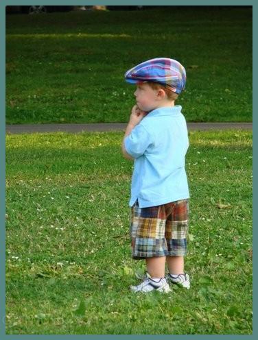 Cute little boy at Hoopes Park in Auburn, NY