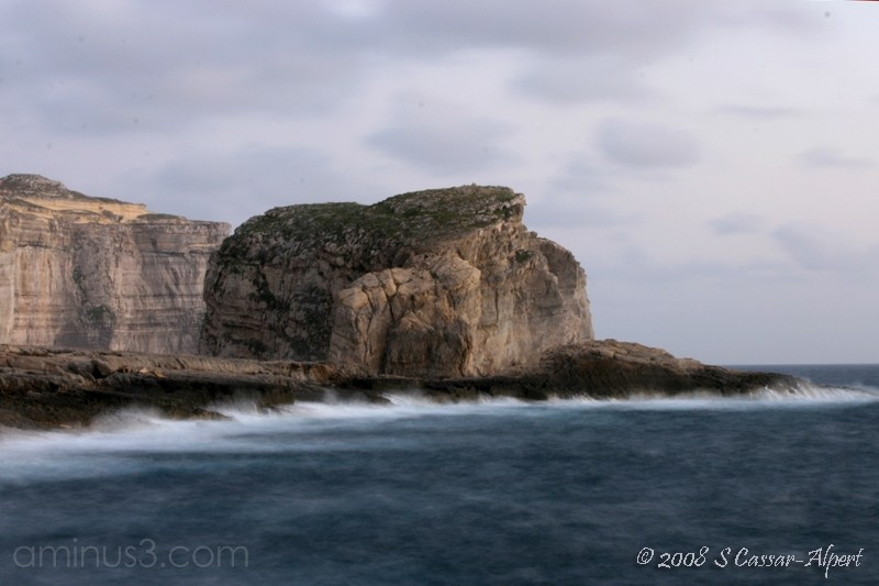 Choppy Sea at Dwejra, Gozo