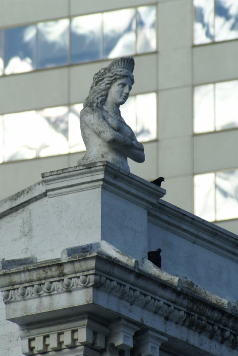 old bondi junction shop roof statue