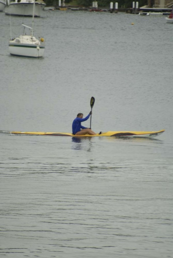 yellow surf ski