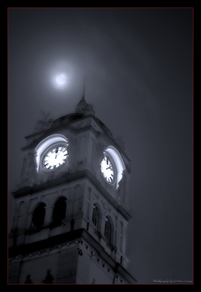 Towering over midnight