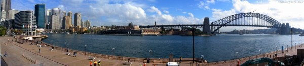 sydney harbour bridge australia panorama