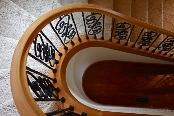 slowly spiraling staircase