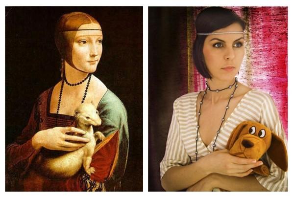 Paraphrase: Leonardo Da Vinci-Lady with an ermine