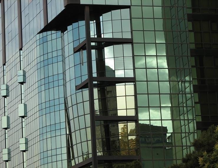 glassy building