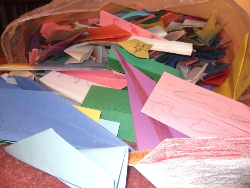 Paper Airplanes taking over my livingroom